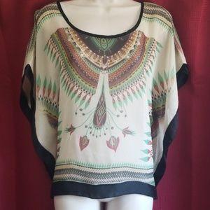 Julie's Closet | Sheer Wide Sleeve Boho  Tunic